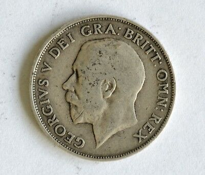 1911 George V sterling silver shilling coin - British Silver Coin - A54