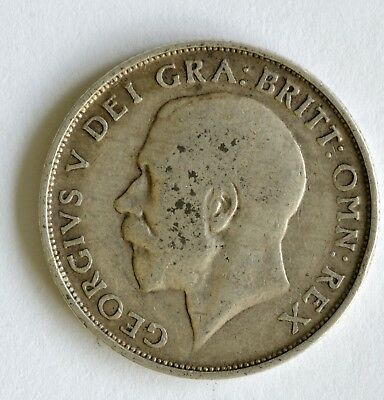 1911 George V sterling silver shilling coin - British Silver Coin - A59