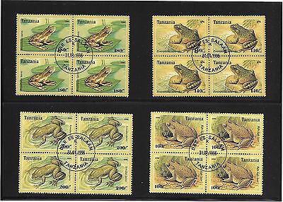 Frogs On Postage Stamps 4 Blocks Of 4