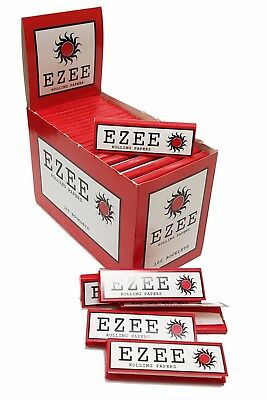 EZEE Red Rolling Paper Cigarette Standard Cut Corners - Genuine - Multilisting