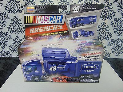"""Jimmie Johnson Very Rare Set of 2 """"BASHERS"""" Hauler Truck and Car Together"""