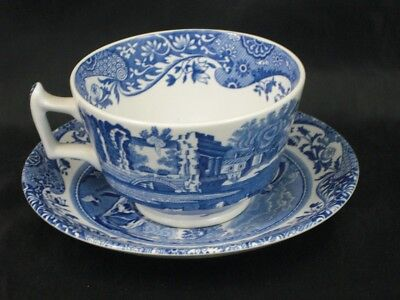 VINTAGE Spode Blue Italian Beautiful Tea Cup & Saucer - Made in England    s1786