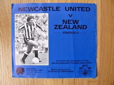 Newcastle United V New Zealand 1984-85 Friendly Match