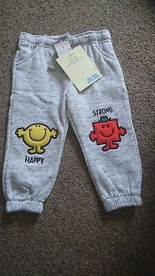 Gorgeous Boys Mr Men Joggers, 12-18 Months, Perfect For Christmas *Brand New*
