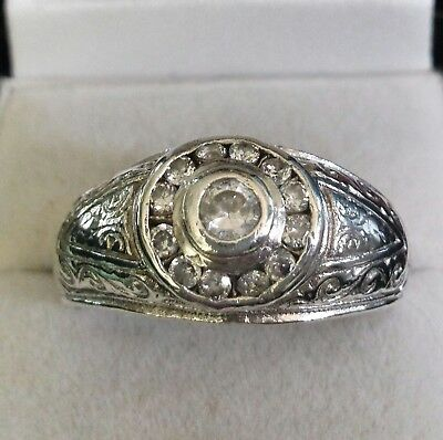 Ladies Sterling Ring Sz 12