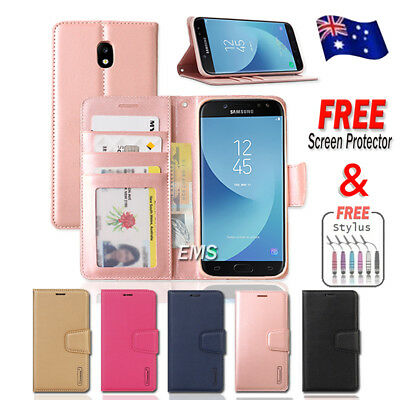 Hanman Wallet Leather Flip PU Case Cover For Samsung Galaxy J5 Pro J7 Pro 2017
