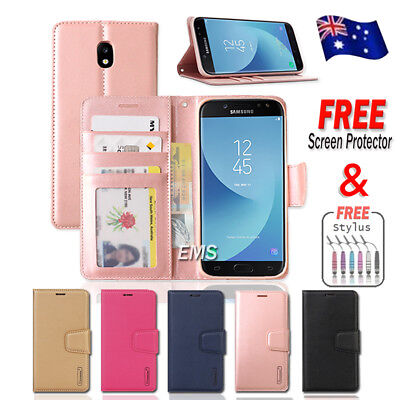 Samsung Galaxy J2 Pro J5 J7 Pro A8 J8 2018 Hanman Wallet Leather Flip Case Cover