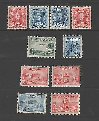 Australia Mint stamps from GV