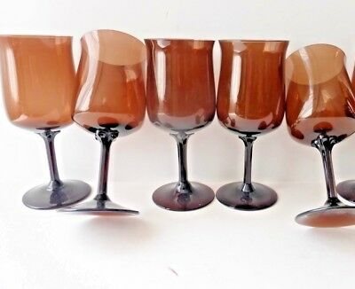 Lenox Espresso Brown Glass Water Goblets, Set of 5