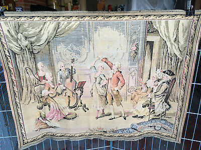2 Antique Tapestry French society