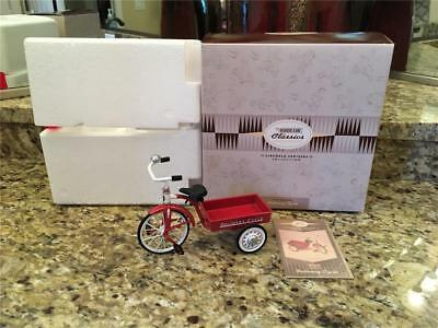 Hallmark Kiddie Car Classics Sidewalk Cruisers 1950 Garton Delivery Cycle W/Box
