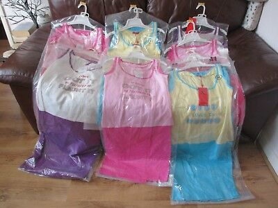 Ladies Pyjamas pj's vest top & bottoms x 8, Sx2, Mx4, Lx2