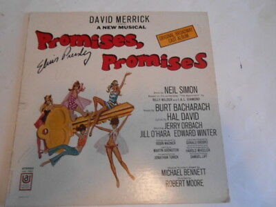 old collectible Elvis Presley autographed record Promises Promises