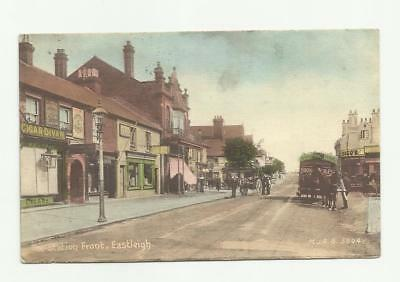 Eastleigh 1912 station front postcard used