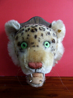 Steiff USA Only Exclusive Leopard Trophy Head No. 60 - 1958 - VGC