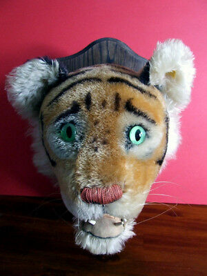 Steiff USA Only Exclusive Tiger Trophy Head No. 60 - 1958 - VGC