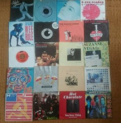 """Job Lot Collection 45 Vinyl 7"""" Singles 40 mostly 80s"""