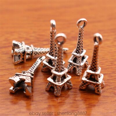 10Piece 21*8mm Eiffel Tower Charms Tibetan Silver Bail DIY Jewelry Finding 7097F
