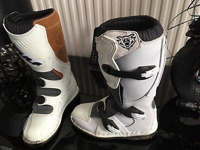 Wulfsport Cub Racing Boots White Size 34