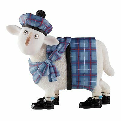 Ewe and Me Sheep by Toni Goffe A23205 Cameron Blue Tartan Ornament Scotland
