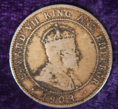 Jamaica One 1 Penny 1903 Old Coin e