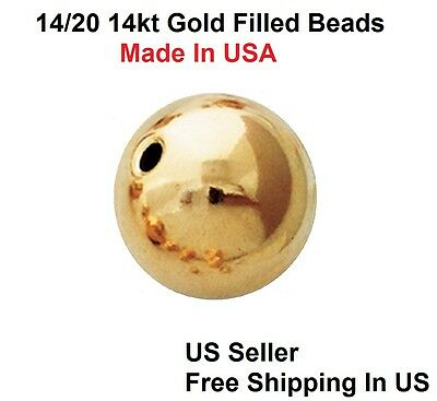 4 MM Gold Filled Seamless Round Bright Beads 14/20-14 Kt (Choose Quantity)