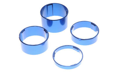 cycling ahead Spacer Set 20+15+10+5 size 1 1/8 blue or silver