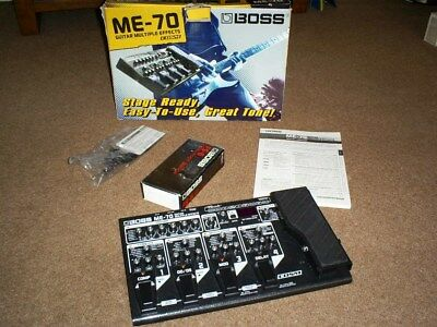 boss me70 multi effects pedal boxed with instructions