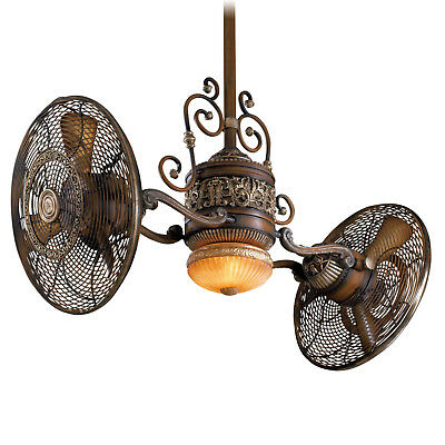 Brand New Minka Aire F502-BCW 42-in Tradtional Gyro Ceiling Fan w/ Light