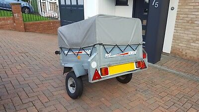 Erde 102 trailer with removable cover..