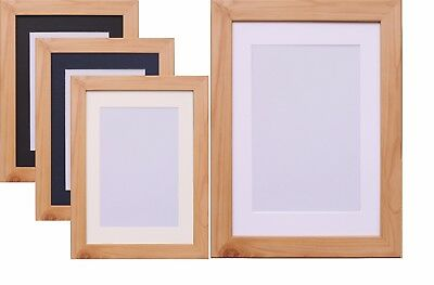 Pine Photo Picture Frame Poster Frame & Mount White Black Ivory Blue