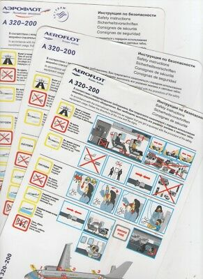 AEROFLOT     THREE  DIFFERENT     Airbus  A320-200       Safety Cards
