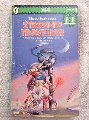 Starship Traveller Fighting Fantasy 4 Steve Jackson Puffin Adventure Gamebook