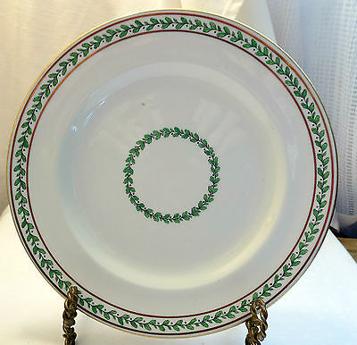 Royal Chelsea China Holiday Pattern w/Green Leaves & Berries Collectors Plate