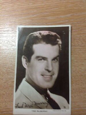 Fred Mac Murry post card vintage