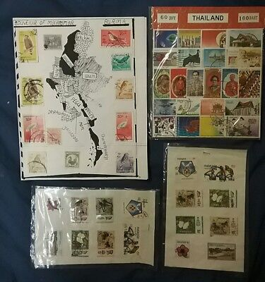 kerryyw Malaysia,Burma,Thailand packets 87 stamps used