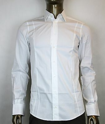 505d31aa9 New Authentic Gucci Mens Button-Down Dress Shirt White Fitted 307674 9000