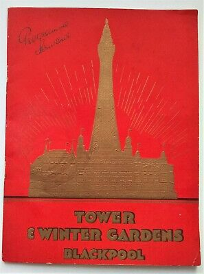 Blackpool Tower & Winter Gardens - Programme Souvenir  March 1937