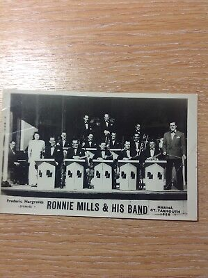 Vintage Ronnie Mills band postcard