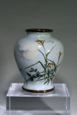 A Small Hachizaemon Japanese Cloisonne Vase