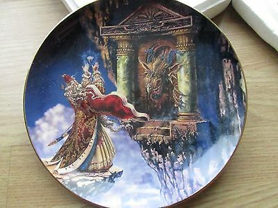 Royal Doulton Franklin Mint Dragon Offering Plate Ltd Edition Bone China  Boxed