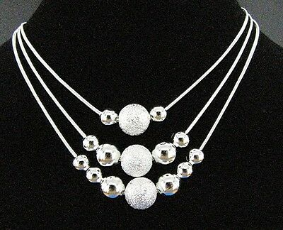 Wholesale Gift Sterling Silver jewellery BALLS Necklace925
