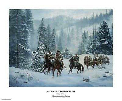 """Nathan Bedford Forrest"" Don Stivers Commemorative Edition Giclee Print"