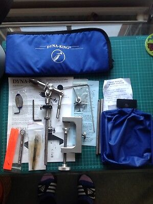 Dynaking Supreme Fly Tying Vice With Various Accessories