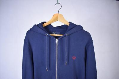 Small Navy Fred Perry Zip Up Hoodie