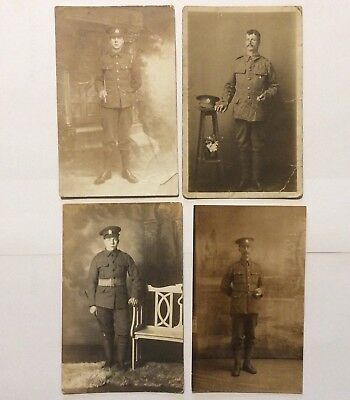 vintage postcards, WW1, Soldiers, Rifle Brigade, portraits, job lot