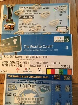 Rugby League Finals Ticket Stubs