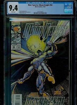 Marc Spector: Moon Knight 56 CGC 9.4 NM Stephen Platt cover Marvel near mint