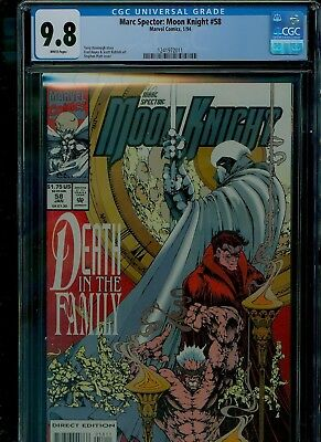 Marc Spector: Moon Knight 58 CGC 9.8 NM/MINT Stephen Platt cover Marvel