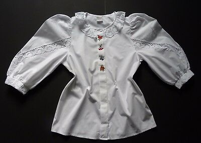 German Bavarian Ladies Embroidered Trachten Dirndl Blouse 8